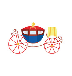 Royal vintage carriage couch with big wheels vector