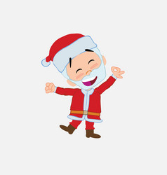 santa claus exulting in happiness vector image