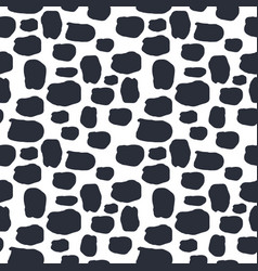 seamless pattern dalmation and cow skin in black vector image