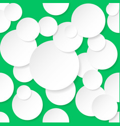seamless texture circles for design on green vector image