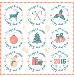 Set christmas banners vector