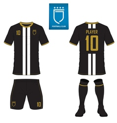 Set soccer kit or football jersey template vector