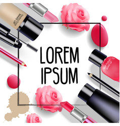 sets of cosmetics on isolated background vector image