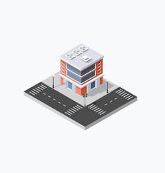 Shop market city vector