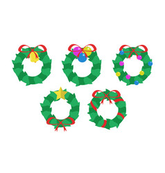 simple garland set vector image