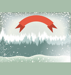 snow winter landscape vector image