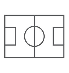 Soccer field thin line icon game and sport vector