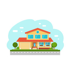 Suburban cottage private houses vector