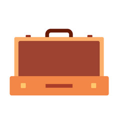 suitcase for clothes icon flat isolated vector image