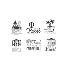 time to travel labels or logos original design vector image