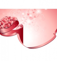 Valentine present vector