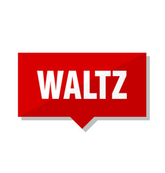 Waltz red tag vector