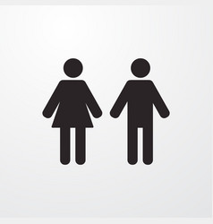 Wc woman man sign icon flat design style f vector