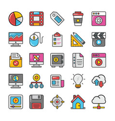 Web design and development icons 4 vector