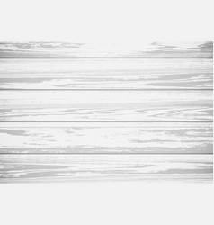 White wood textured background realistic vector
