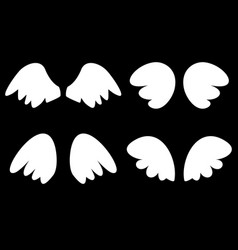 Wings set with white angel wings vector