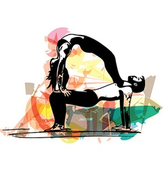 Yoga couple vector