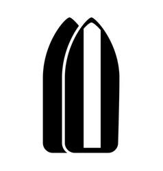 black icon surf table cartoon vector image