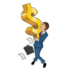 businessman and dollar symbol vector image