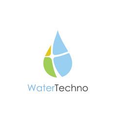 drop water technology logo vector image