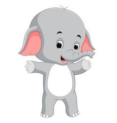 funny baby elephant cartoon vector image vector image