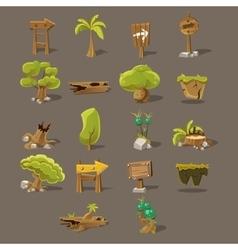 Landscaping Design Set vector image vector image