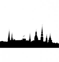 Riga panorama vector image vector image