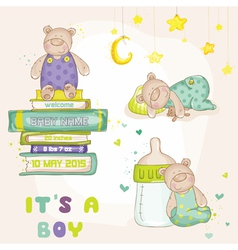 Baby Bear Set - for Baby Shower Cards vector image