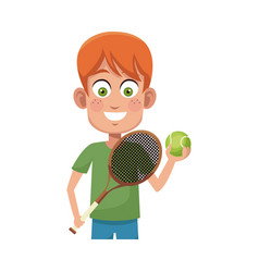 boy cartoon icon vector image vector image