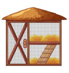 chicken coop with no chicken vector image vector image