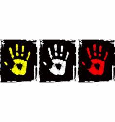grunge hand set vector image vector image