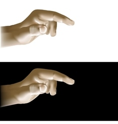 realistic hand finger points vector image
