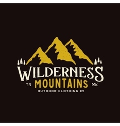 Wilderness Mountains Outdoor Clothing Vintage vector image vector image