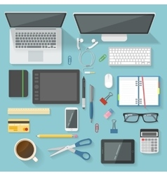 Workspace Icon Set vector image vector image