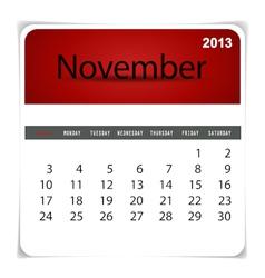 2013 calendar November vector image