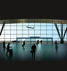 airport hall vector image vector image