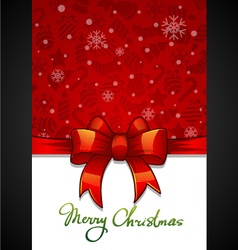 Christmas greeting card red background with vector