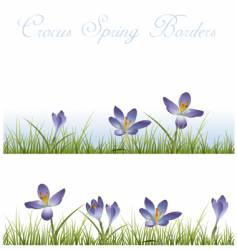 crocus borders vector image vector image