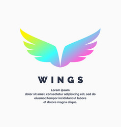 modern colored wings in a futuristic style vector image