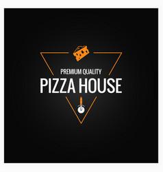 pizza logo design background vector image