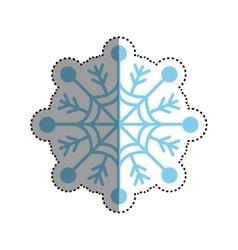 Snowflake winter symbol vector image vector image