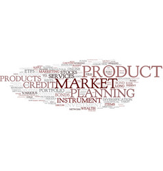 financial product word cloud concept vector image vector image