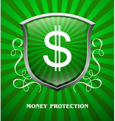 Protection money vector image vector image