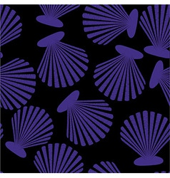 Shells seamless pattern vector image vector image