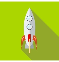 Space rocket icon in flat style vector image vector image