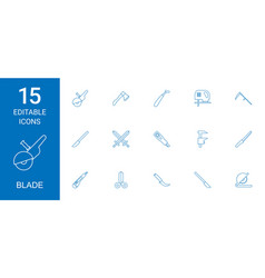 15 blade icons vector