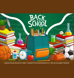 Back to school student study education supplies vector