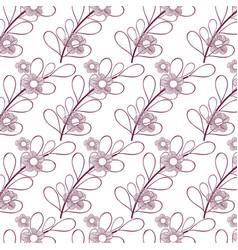 beautiful flower background design vector image
