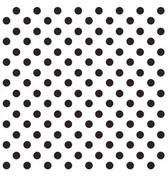 black and white seamless polka dot pattern vector image