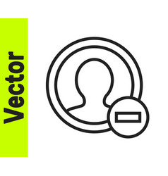black line create account screen icon isolated on vector image